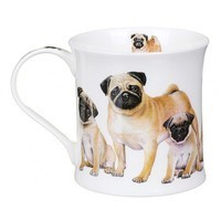 Фото Кружка Dunoon Wessex Designer Dogs Pugs 300 мл 101001186